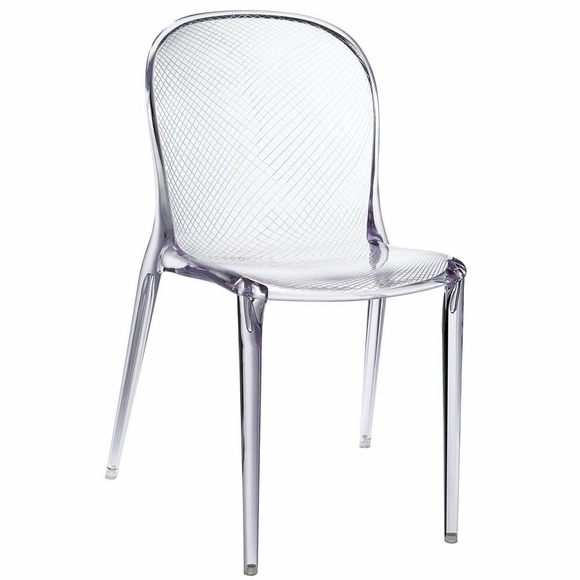 Scape Dining Side Chair in Clear