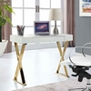 Sector Console Table in White Gold