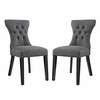 Silhouette Dining Side Chairs Upholstered Fabric Set of 2