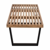 Slat 5' Bench with Solid Wood Legs