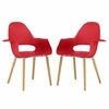 Soar Dining Set Set of 2 in Red
