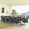 Sojourn 114 Inch Outdoor Patio Dining Table in Chocolate