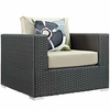 Sojourn 5 Piece Outdoor Patio Sunbrella Sectional Set MID-2375
