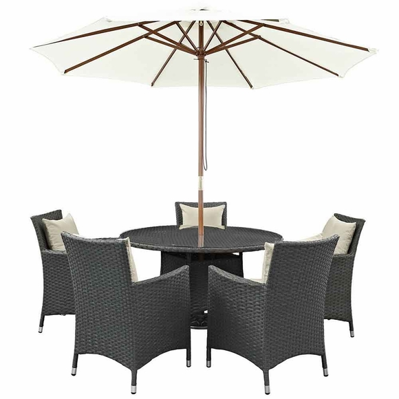 Sojourn 7 Piece Outdoor Patio Sunbrella® Dining Set