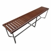 Solid Bench 72 Inch in Brown