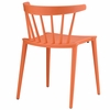 Spindle Dining Side Chair in Orange