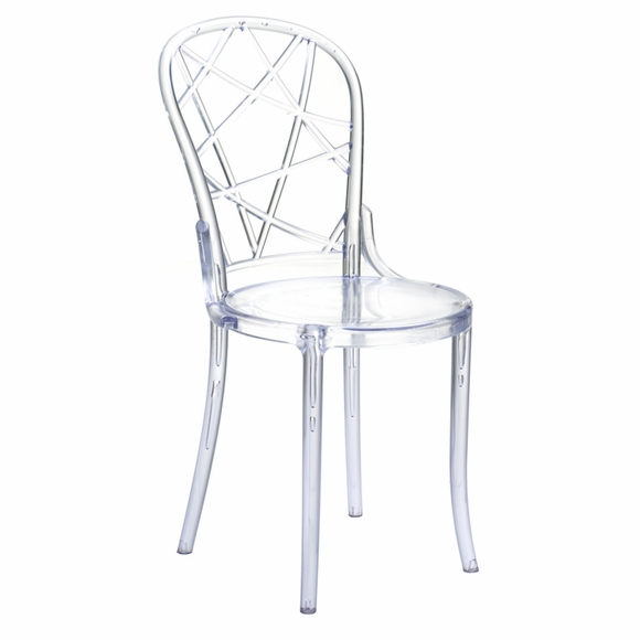 Spiral Clear Chair in Clear