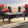 """Splender 43.5"""" Rectangle Outdoor Patio Fire Pit Table in Espresso"""