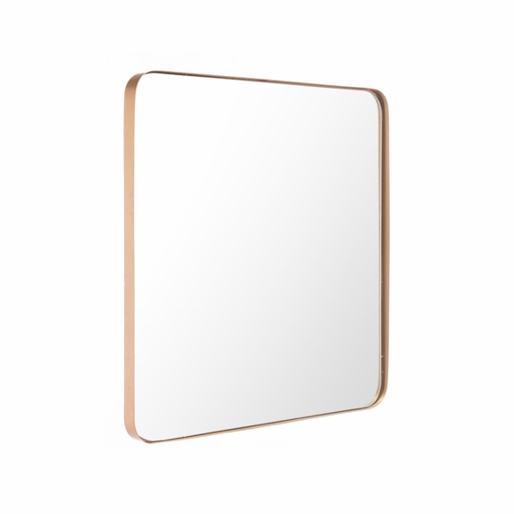 Square Metal Mirror in Gold