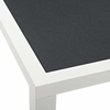 Stance 90.5inch Outdoor Patio Aluminum Dining Table in White Gray