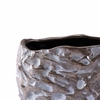 Stones Small Vase in Metallic Brown & White