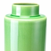 Stoneware Medium Bottle in Green & Gray