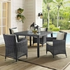 Summon 47 Inch Square Outdoor Patio Dining Table in Gray
