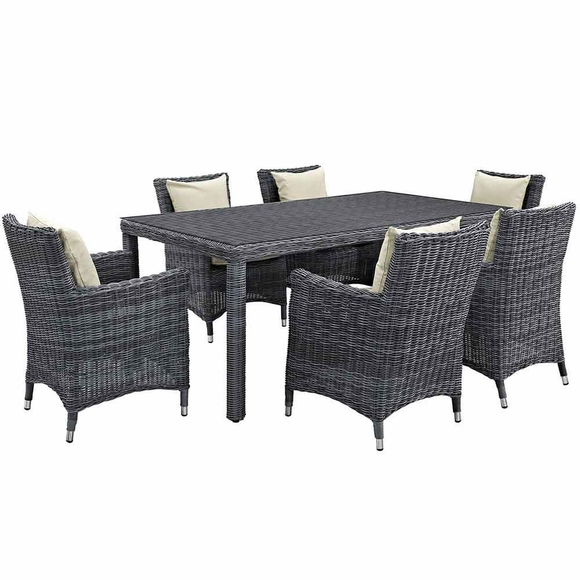 Summon 7 Piece Outdoor Patio Sunbrella® Dining Set