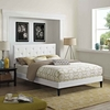 Tarah Full Vinyl Platform Bed with Squared Tapered Legs