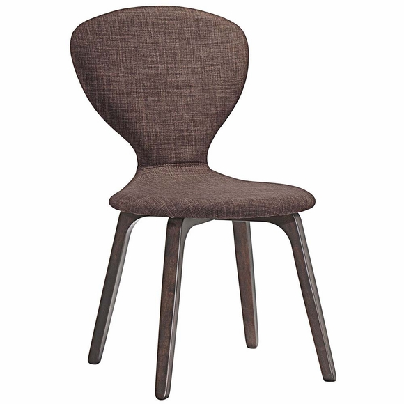 Tempest Dining Side Chair in Walnut Brown