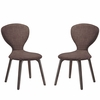 Tempest Dining Side Chair Set of 2 in Walnut Brown
