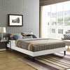 Tessie Full Vinyl Bed Frame with Squared Tapered Legs
