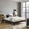 Tessie Queen Vinyl Bed Frame with Squared Tapered Legs