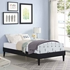 Tessie Twin Vinyl Bed Frame with Squared Tapered Legs
