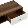 Transmit 55inch TV Stand in Walnut White