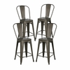 "Trattoria 24"" High Back Counter Stool ( Set of 4)"