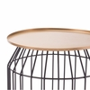 Tray End Table Small in Gold & Black