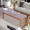 Upland Outdoor Patio Teak Wood Coffee Table in Natural