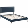 Virginia Full Fabric Platform Bed with Round Splayed Legs