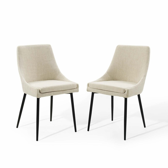 Viscount Upholstered Fabric Dining Chairs - Set of 2