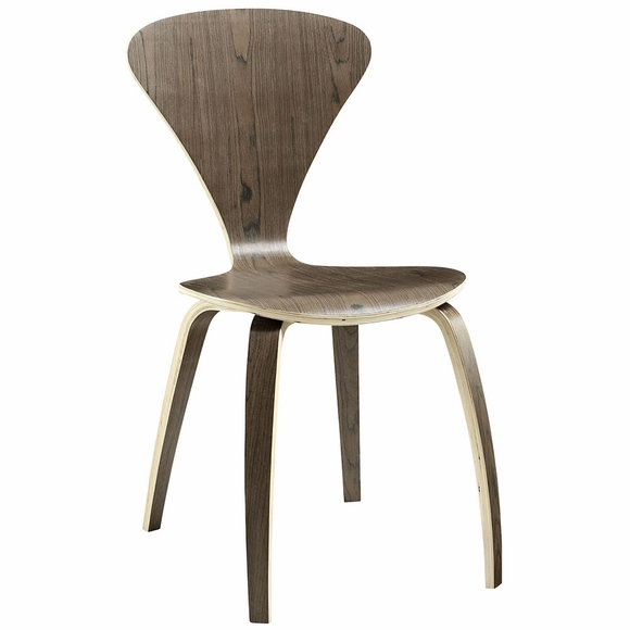 Vortex Dining Side Chair in Dark Walnut