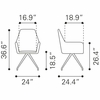 Watkins Dining Chair Gray Set of 2