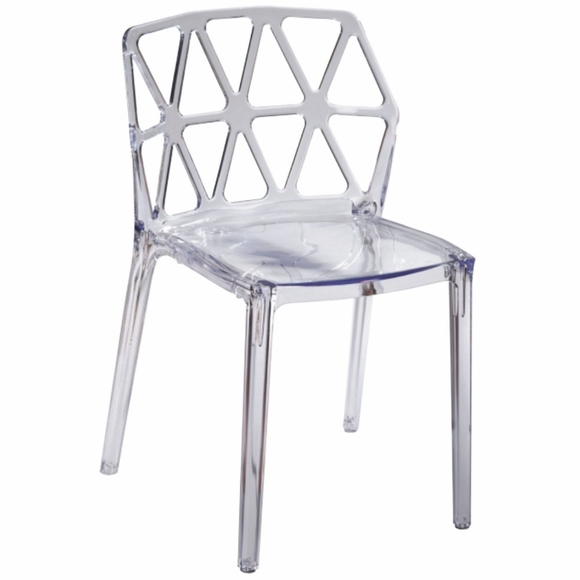 Zig Zag Dining Chair in Clear