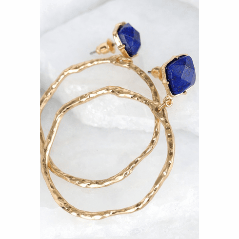 Blue/Gold Hoops