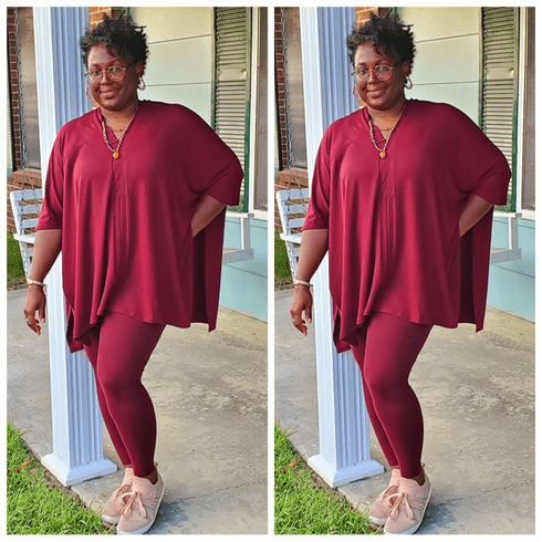 Burgundy-Maroon Monochromatic Set