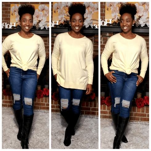 Canary Loose Fit Tunic Sweater