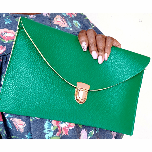 Kelly Green Clutch