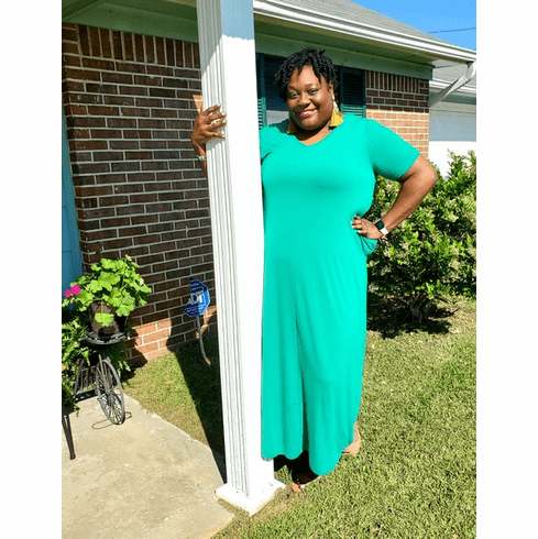 Kelly green Maxi Tee