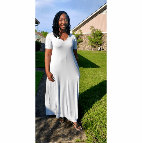 Light Gray Tee Maxi