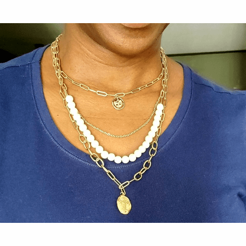 Multilayered Pearl Choker