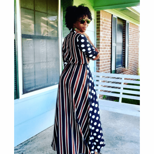 Striped and Polka Dot Maxi