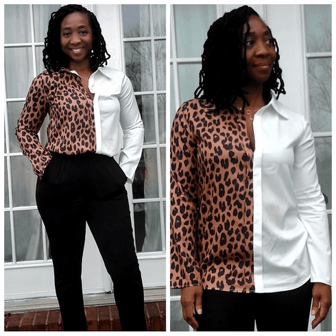 The white Leopard Top