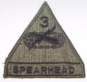 3rd Armored Spearhead Division Military Patch