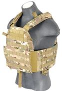 Lancer Tactical Airsoft MilSim 6094 MOLLE Plate Carrier Vest in Modern Land Camo CA-311C