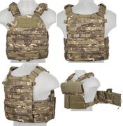 Lancer Tactical Airsoft MilSim 6094 MOLLE Plate Carrier Vest in Tropic Camo CA-311MT