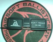 Don't Tread On Me Gadsden Snake Laser Engraved Airsoft Guns M4 ECHO1 AEG Dust Cover