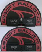 I Will Not Go Quietly Into the Night Laser Engraved Airsoft Guns M4 ECHO1 AEG Dust Cover