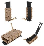High Speed M1911 Slim Pistol Mag Tactical Retention MOLLE Pouch in Tan