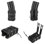 Scorpion Style 5.56 High Speed M4 Open Top Tactical Retention MOLLE Mag Pouch in Black