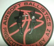 Angel Custom Hex Tunable Trigger for M4 M16 Series Airsoft AEG's and PolarStar Air Systems in BLACK